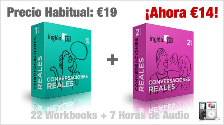 Oferta de Conversaciones Reales Series 1 y 2 Super Pack Audio/MP3