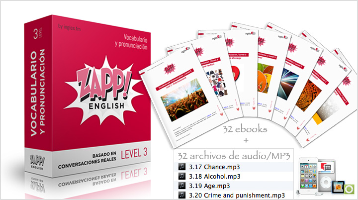 Descargar Zapp! Inglés Vocabulario y Pronunciación Avanzado e-Books y Audio/MP3