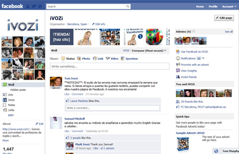 Aprender inglés por Facebook